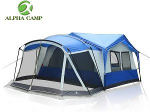 Alpha Camp Family Tent with Screen Room